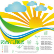 Nature background, horizontal 10eps vector environmentally friendly — Stockvectorbeeld