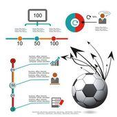 Isolé un soccerball un vecteur de l'horaire de jeu d'une victoire — Vecteur