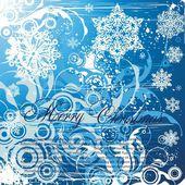 Christmas background vector shabby modern illustration — Stock Vector