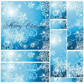 The winter background a vector is much modern — Stock Vector