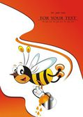 Animated film illustration darling of the bee and background vector — Stock Vector
