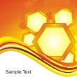 Vector illustration of a background with honeycombs — Vector de stock