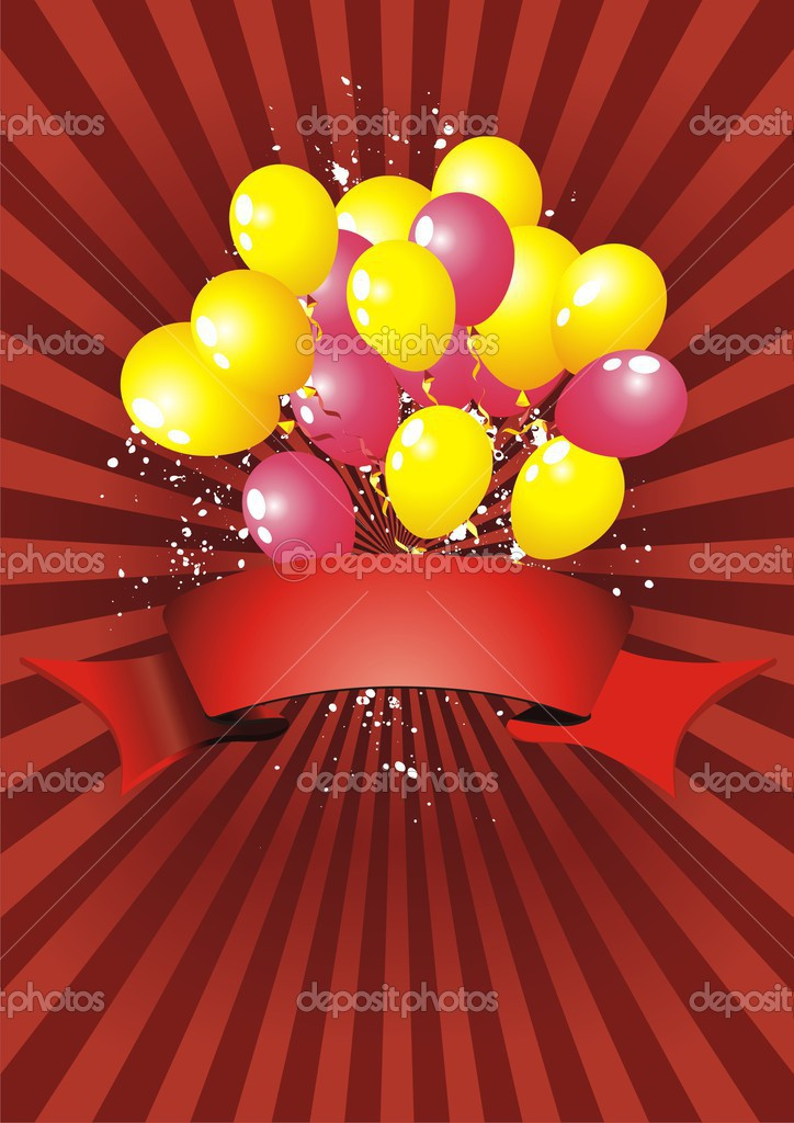 Colourful Balloons Wallpaper Balloon Vector Background Isolated Wallpaper Decoration Rubber