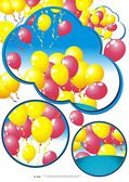 Vector background with multicolored balloons — Wektor stockowy