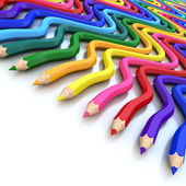 Abstract background line of colour pencil as rainbow illustratio — Stock Photo