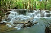 Hui Mea Khamin Waterfall, Kanchanabury, Thailand — Stock Photo