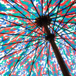 Multicolored umbrella — Stock Photo