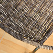 Stock Photo: Wicker chair on metal frame