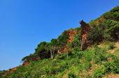 Rocky landscape in blue sky — Stock Photo