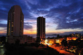 Pattaya on sunset — Stock Photo