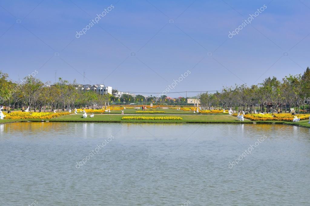 Фотообои Landscape with flood waters