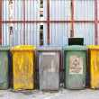 Foto Stock: Dirty garbage tanks