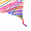 Abstract background line of colour pencil as rainbow illustratio — Stockfoto #12671099