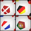 Royalty-Free Stock Photo: International flag on 3d football