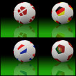 International flag on 3d football — Zdjęcie stockowe