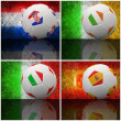 International flag on 3d football — Stock Photo #13027791
