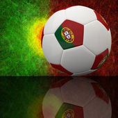 Futebol 3d — Fotografia Stock