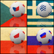 Stock Photo: International flag on 3d football