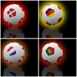 International flag on 3d football — Stock Photo #13623447