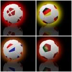 International flag on 3d football — Stock Photo #13623447