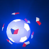 Czech Republic flag on 3d Football — Foto Stock