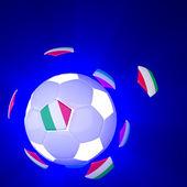 Italien-flagge auf 3d fußball — Stockfoto