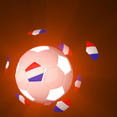 Netherlands flag on 3d football — Stock Photo