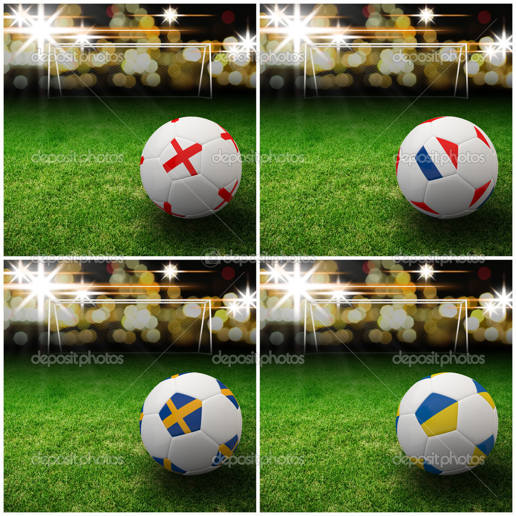 International flag on 3d football — Stock Photo #13627238