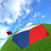 Czech Republic flag on 3d football — Stock Photo