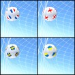 International flag on 3d football — Stockfoto #13641719