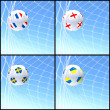 International flag on 3d football — Stock fotografie #13641719