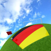 Germany flag on 3d football — Stock Photo