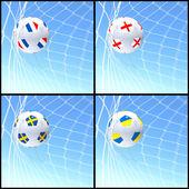 International flag on 3d football — Foto Stock
