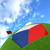 Czech Republic flag on 3d football — Stock Photo