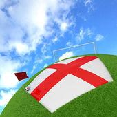 England flag on 3d football — Stock Photo