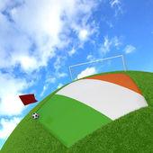 Ireland flag on 3d football — Stock Photo