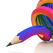 Abstract background line of colour pencil illustration — Stock Photo