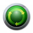 Button of recycle icon — Stock Photo