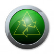 Stock Photo: Button of recycle icon