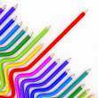 Stock Photo: Abstract background line of colour pencil illustration