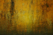 Grunge yellow wall texture — ストック写真