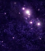 Starry background of stars and nebulas in deep outer space — Stock Photo