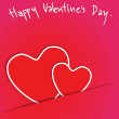 Stock Photo: Heart from paper Valentines day card