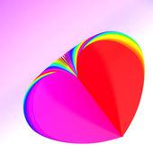 A forma di cuore astratta — Foto Stock