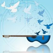 Music of peace — Stock Photo
