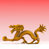 3d rendered chinese golden dragon — Stock Photo