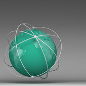 3d globe connections network design — Stock Photo