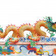 Dragon statue on china temple roof — Stock Photo #24530247