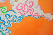 Cloud chinese style paint on wall — Stock Photo