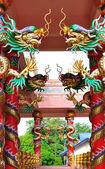 龙在中国寺庙中 — 图库照片